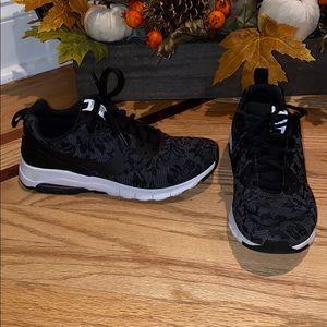 Women's Nike Air Black floral running shoe